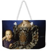 Portrait Of Eleanor Of Toledo With Her Son Giovanni De' Medici Weekender Tote Bag