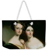 Portrait Of Ellen And Mary Mcilvaine, 1834 Oil On Canvas Weekender Tote Bag