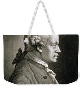 Portrait Of Emmanuel Kant Weekender Tote Bag