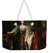 Portrait Of Empress Elizabeth, 1758 Oil On Canvas Weekender Tote Bag