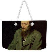 Portrait Of Fyodor Dostoyevsky Weekender Tote Bag