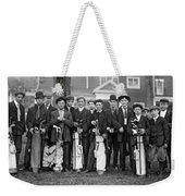 Portrait Of Golf Caddies Weekender Tote Bag