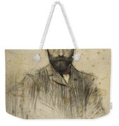 Portrait Of Gustave Violet Weekender Tote Bag