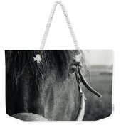 Portrait Of Horse In Black And White Weekender Tote Bag