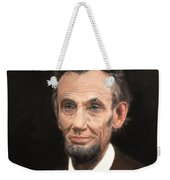 Portrait Of Lincoln Weekender Tote Bag