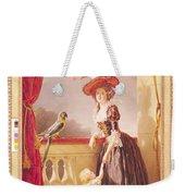 Portrait Of Louise-elisabeth De France 1727-59 Duchess Of Parma And Her Son Ferdinand 1751-1802 Weekender Tote Bag