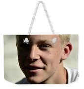 Portrait Of Luke Weekender Tote Bag