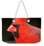Portrait Of Male Cardinal Weekender Tote Bag