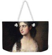 Portrait Of Miss Elizabeth Linley  Later Mrs Richard Brinsley Sheridan Weekender Tote Bag