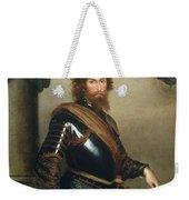 Portrait Of Nicolo Raggi Weekender Tote Bag by Bernardo Strozzi