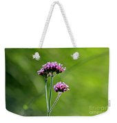 Portrait Of Purple Verbena Weekender Tote Bag