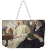 Portrait Of The Artist S Mother And Sister Weekender Tote Bag