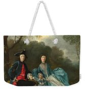 Portrait Of The Artist With His Wife And Daughter Weekender Tote Bag