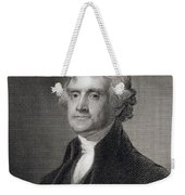 Portrait Of Thomas Jefferson Weekender Tote Bag by Henry Bryan Hall