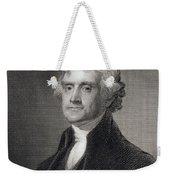 Portrait Of Thomas Jefferson Weekender Tote Bag