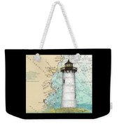 Portsmouth Harbor Lighthouse Nh Nautical Chart Map Art Weekender Tote Bag