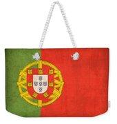 Portugal Flag Vintage Distressed Finish Weekender Tote Bag