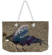 Portuguese Man-o War Beached Weekender Tote Bag