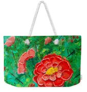 Posie In Red Weekender Tote Bag