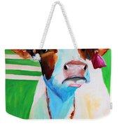 Posing Cow Weekender Tote Bag