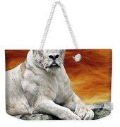 Posing Lioness Weekender Tote Bag