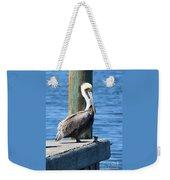 Posing Pelican Weekender Tote Bag by Carol Groenen