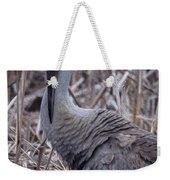 Posing Sandhill Crane Weekender Tote Bag