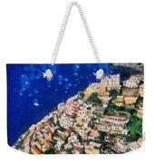 Positano Town In Italy Weekender Tote Bag