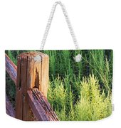 Post And Rail At Sunset Weekender Tote Bag
