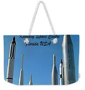 Post Card Of The Kennedy Space Centre Florida Weekender Tote Bag