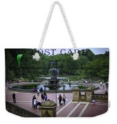 Postcard From Central Park Weekender Tote Bag