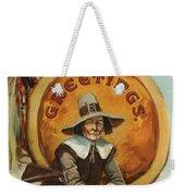 Postcard Of Pilgrim Plucking A Turkey Weekender Tote Bag by American School
