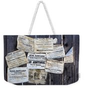 Posted To My Wall Weekender Tote Bag
