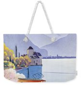 Poster Advertising Rail Travel Around Lake Geneva Weekender Tote Bag