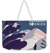 Poster Advertising The Canadian Ski Resort Jasper Weekender Tote Bag