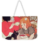 Poster Advertising The Compagnie Francaise Des Chocolats Et Des Thes Weekender Tote Bag