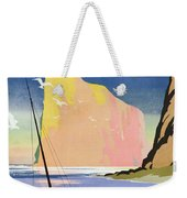 Poster Advertising The Gaspe Peninsula Quebec Canada Weekender Tote Bag