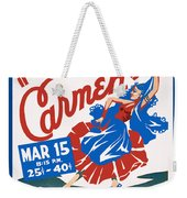 Poster For Production Of Carmen Weekender Tote Bag