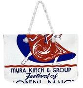 Poster Modern Dance Festival Weekender Tote Bag