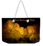 Poster Of Mount Rushmore Weekender Tote Bag