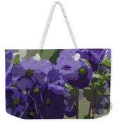 Posterised Flowers Weekender Tote Bag