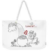 Pot Of Gold Valentines  Weekender Tote Bag