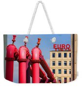 Potsdamer Platz Pink Pipes In Berlin Weekender Tote Bag