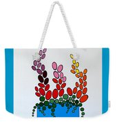 Potted Blooms - Blue Weekender Tote Bag