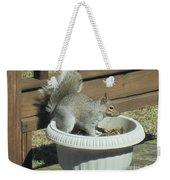 Potted Squirrel Weekender Tote Bag