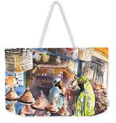 Pottery Seller In Essaouira Weekender Tote Bag