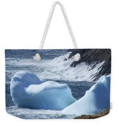 Pounding Surf With Icebergs Weekender Tote Bag