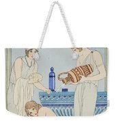 Pouring Water Over The Patient Weekender Tote Bag by Joseph Kuhn-Regnier