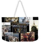 Power Collage Queen Mary Ocean Liner Long Beach Ca 01 Weekender Tote Bag