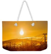 Power Lines And Trees In The Frozen Weekender Tote Bag